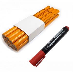 Карандаши, маркеры, разметочный инструмент