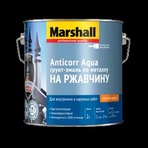 Грунт-эмаль 3в1 MARSHALL Anticorr Aqua 2.0л полуглянц. белая BW