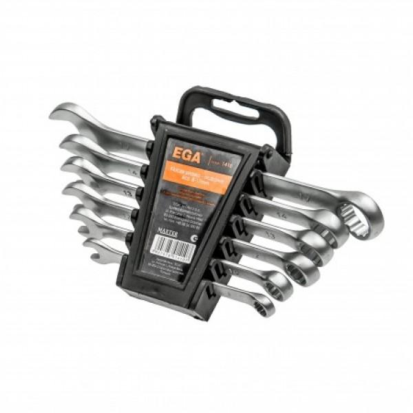 Ключ гаечный CrV рожково-накидной satyna набор 6 шт.8-17мм (5шт/кор)