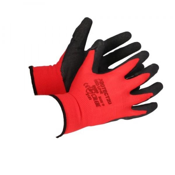 Перчатки PROTECT2U защитные RED LINE 10