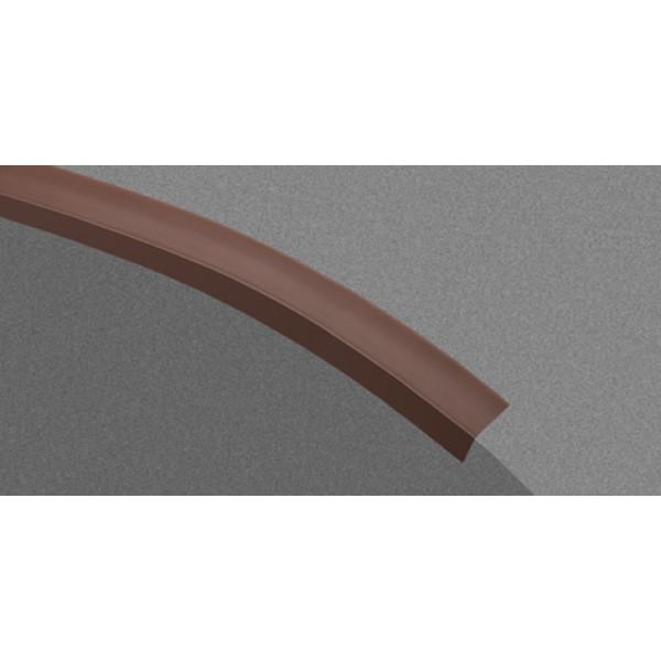 Угол арочный белый 25*12мм L=2,7м (Профиль ПВХ) 100шт