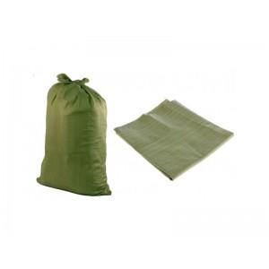 Мешки для строительного мусора полипропиленовые (зеленые)  55*95