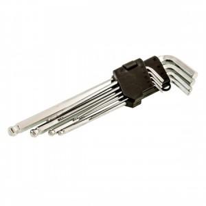Ключи шестигранные 9 шт. длинные 1,5-10мм. MAXTER