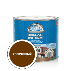 """ЭКСПЕРТ Эмаль ПФ-115М глянц.коричневая (1,8кг; 6шт) """""""
