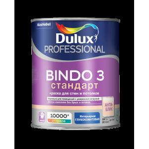Краска DULUX Prof Bindo 3 матовая 1л для стен и потолков белая BW