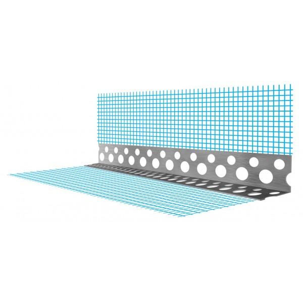 Уголок перф с СИНЕЙ сеткой А-025-19--3000 (100шт/упак)