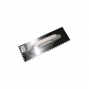 Гладилка нерж. зубчатая 130х280мм зуб 4х4мм