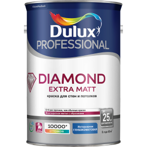 Краска DULUX TRADE Diamond Extra Matt 5л белая BW