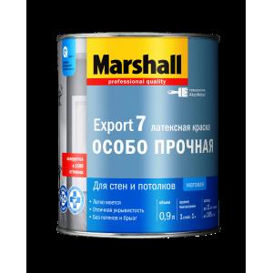Краска MARSHALL Export-7 латексная ос.прочная 0.9л глубокомат.белая BW