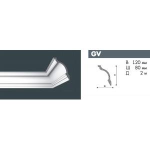 Плинтус потолочный NMC NOMASTYL GV экструд. 120х80мм белый 34шт/кор *