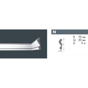 Плинтус потолочный NMC NOMASTYL N экструд. 70х20мм белый 45шт/кор