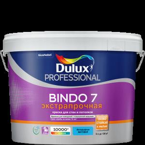 Краска DULUX Prof Bindo 7 матовая 9л для стен и потолков белая BW