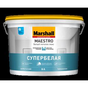 Краска MARSHALL Maestro Белый Потолок Люкс 9л