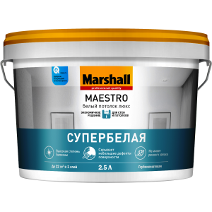 Краска MARSHALL Maestro Белый Потолок Люкс 2,5л