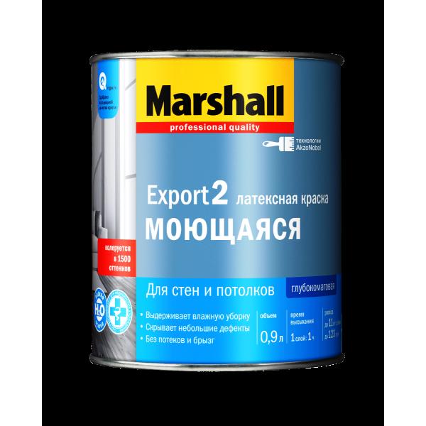 Краска MARSHALL Export-2 латексная 0,9л глубокомат.белая BW