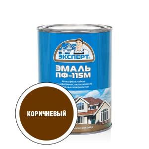 ЭКСПЕРТ Эмаль ПФ-115М глянц.коричневая (0,8кг; 6шт)