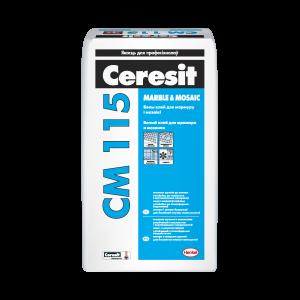 Ceresit CM115 сухая облицовочная смесь для мрамора и мозаики 5кг