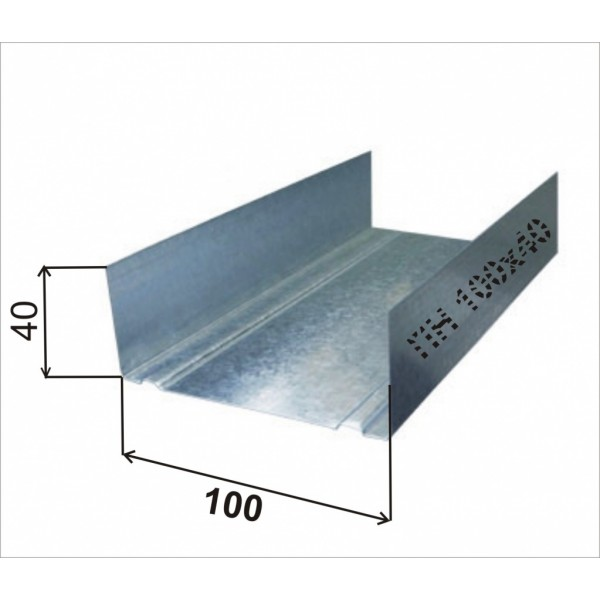 Профиль 100-40-0,50-3000  36м.п./432м.п. РБ