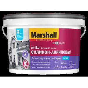 Краска MARSHALL Akrikor 2.5л фасадная силикон-акриловая BW