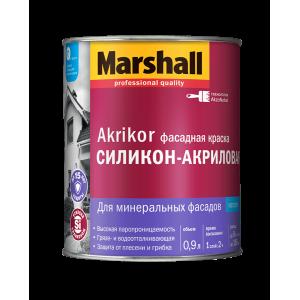 Краска MARSHALL Akrikor 0,9л фасадная силикон-акриловая BС