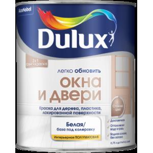 Краска DULUX Окна и Двери 0,75л белая BW