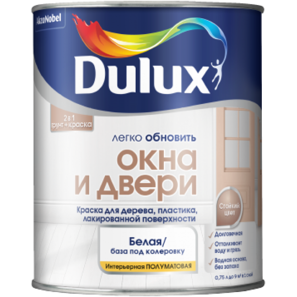 Краска DULUX Окна и Двери 0,75л  база для насыщ.тонов BC