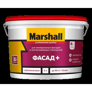 Краска MARSHALL Фасад+ 9л база для насыщ.тонов BC