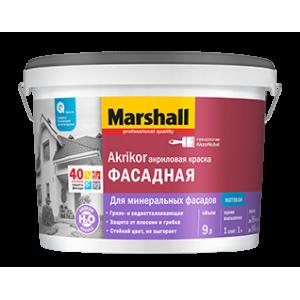 Краска MARSHALL Akrikor 0,9л фасадная силикон-акриловая BW