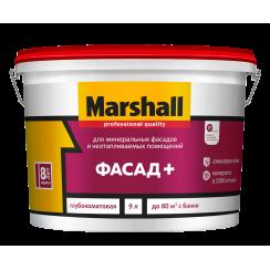 Краска MARSHALL Фасад+ 9л белая BW