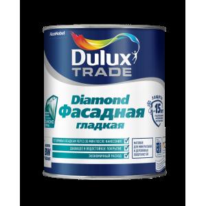 Краска DULUX TRADE Фасадная Гладкая 0,9л база под колеровку насыщ.тона BC