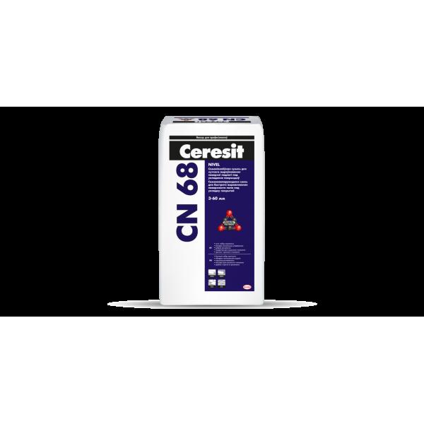 Ceresit CN68 сухая смесь самовыравнивающаяся для стяжек гипсоцементная 25кг
