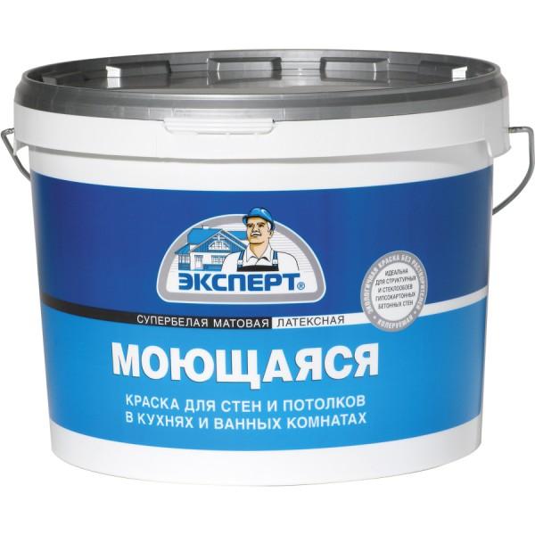 ЭКСПЕРТ Краска моющаяся супербелая (3 кг)