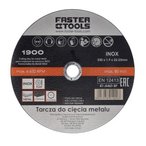 Диск отрезной по металлу INOX 115х1,6 (100шт/кор)