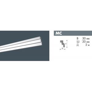 Плинтус потолочный NMC DECOPLINTUS MC экструд. 30х20мм белый 150шт/кор