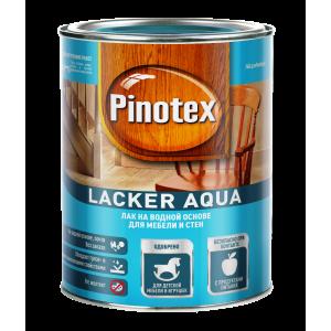 Лак для дерева на водной основе PINOTEX Lacker Aqua (пинотекс лакер аква) МАТОВЫЙ (10) 1л