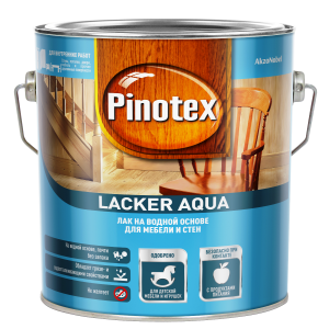 Декоративно-защитный лак PINOTEX Lacker Aqua 10 (матовый) 2,7л