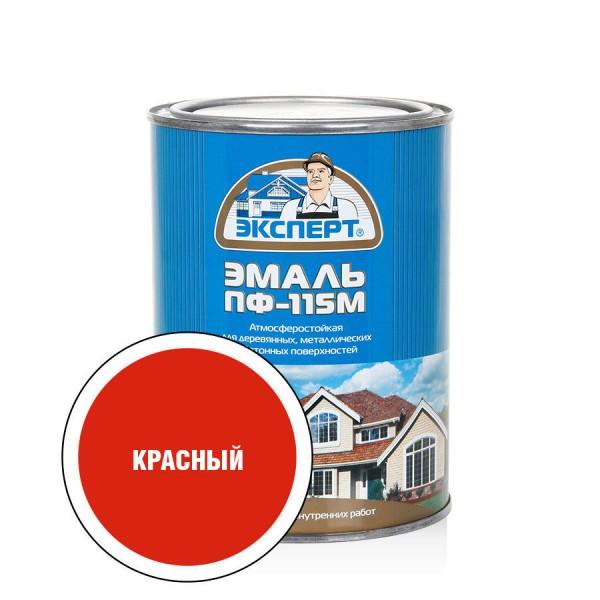ЭКСПЕРТ Эмаль ПФ-115М глянц.красная (0,8кг; 6шт)