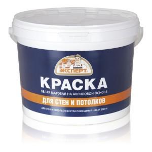 ЭКСПЕРТ Краска для стен и потолков (3 кг)
