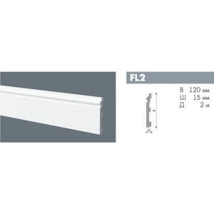 NMC WALLSTYL плинтус FL2 выс.плотности 120х15мм белый 13шт/кор