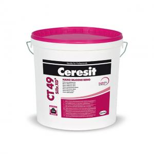 Ceresit СТ49 краска водно-дисперсионная наносиликоновая прозрачная  15л  (22,5кг)